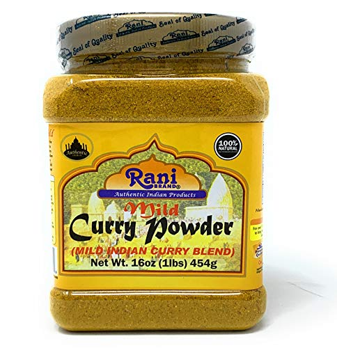 Rani Curry Powder Mild Natural 10-Spice Blend 1lb (16oz) ~ Salt Free | Vegan | Gluten Free Ingredients | NON-GMO