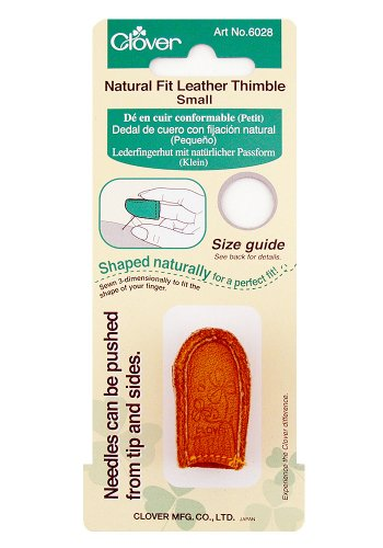 Clover Thimble (Clover Natural Fit Leather Thimble, Small)