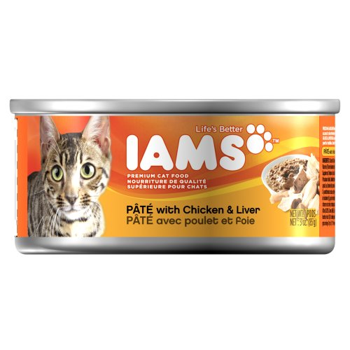 Iams Proactive Health Adult Pate with Chicken and Liver, 3-Ounce Cans (Pack of 24), My Pet Supplies