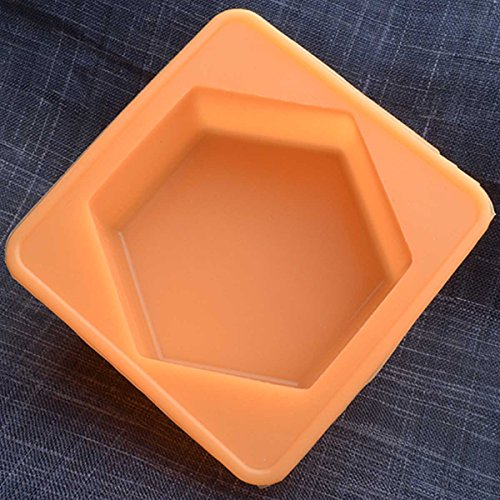 Chawoorim Silicone Soap Mold Flexible Soap Molds Silicon Loaf for Making Hand Made Soap Bar Homemade Lotion Bars Bath Bombs (4cavity Plain Basic - Hexagon Products