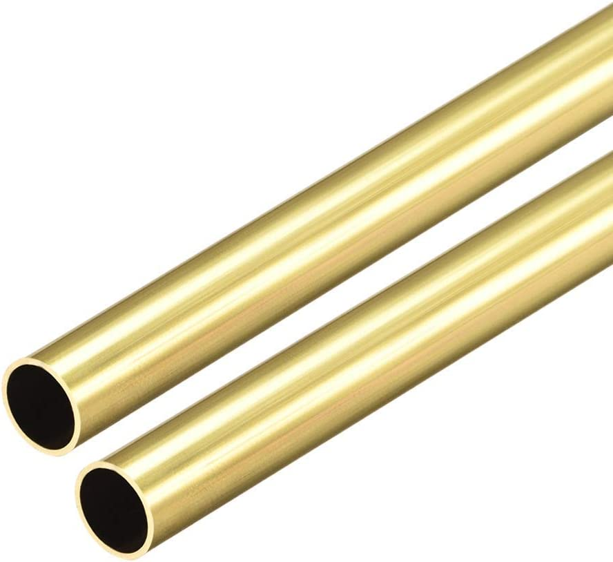 Brass Round Tubing Hollow Copper Tube Stainless Steel Pipe Length 50cm Seamless Straight Pipe.for Model Making Tool,Architectural Design and Engineering 23x16mm