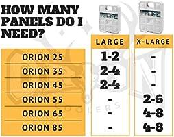 Orion - Hielo ártico Negro para Hielo y congelación, Extra Grande ...