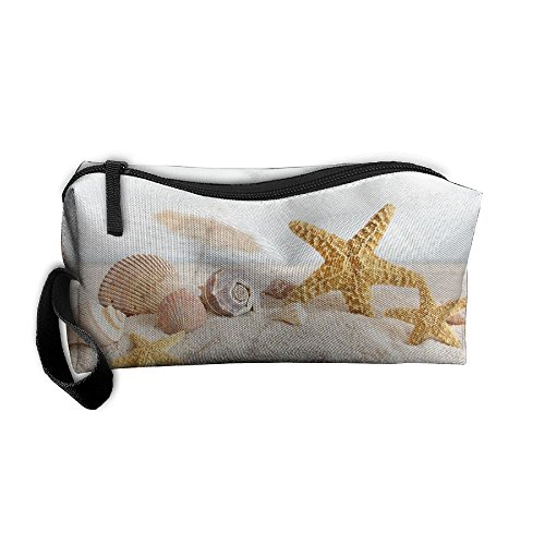 Coin Pouch Seashells And Starfish Pen Holder Clutch Wristlet Wallets Purse Portable Storage Case Cosmetic Bags Zipper