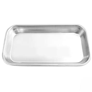 Stainless Steel Dental Medical Tray Lab Instrument for Professional  Surgical Veterinary Dentistry Home Bathroom Use