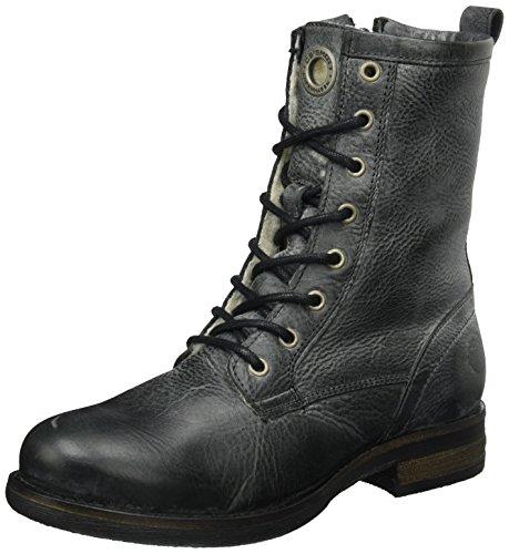 cashott A18014, Stivali Militari Donna Nero (Black West 130)