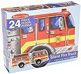 MELISSA & DOUG FLOOR PUZZLE GIANT FIRE TRUCK, 24piece (4Feet long)
