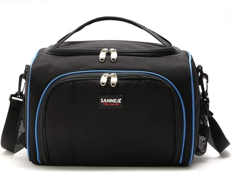 ZVLPE 二重断熱ランチバッグ 携帯用断熱ピクニックバッグ 男女兼用 保冷 新鮮 破れにくい 大きなトートバッグ クーラー オフィス ピクニック 学校 車 アイスパック
