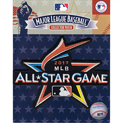 (Official 2017 All Star Game MLB Miami Marlins Sleeve Jersey Logo Patch)