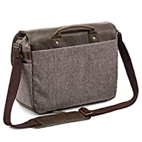 DSLR Camera Bag Evecase Shoulder Messenger Camera / Lens Case - Chestnut Brown by Evecase