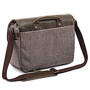 DSLR Camera Bag Evecase Shoulder Messenger Camera / Lens Case - Chestnut Brown from Evecase