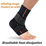 Chartsea Ankle Support, Adjustable Ankle Brace Breathable Elastic Comfortable (L)