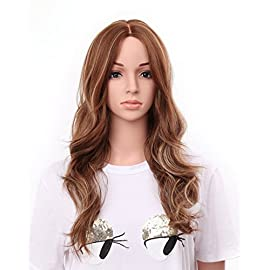 OneDor 24″ Curly Kanekalon Premium Synthetic Lace Hair Wig (1#-Black)