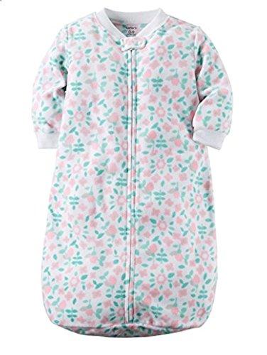 Cartrs Baby Girl 0-9 Months White Floral Zip Up Fleece Sleep Bag