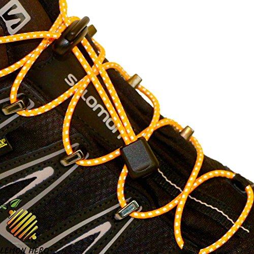 No Tie Elastic Shoelaces by Lemon Hero - Range of Reflective Colors. Our Shoe Laces Fit Shoes and Boots. Fits Adults and (Lemon Lace)