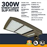 LED DLC Street Lighting with Shorting Cap - 300W - Outdoor LED Street Lights, 42000 Lumens - Commercial or Residential Area Pathway Security Lights - 5 Year Warranty - 5700K