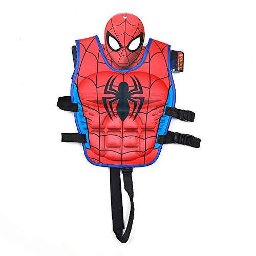 Spider Man Water Sports Vest (Swim Vest Learn-to-Swim Floatation Jackets for Kids, L, 5-9 Years Old (Red Spiderman))
