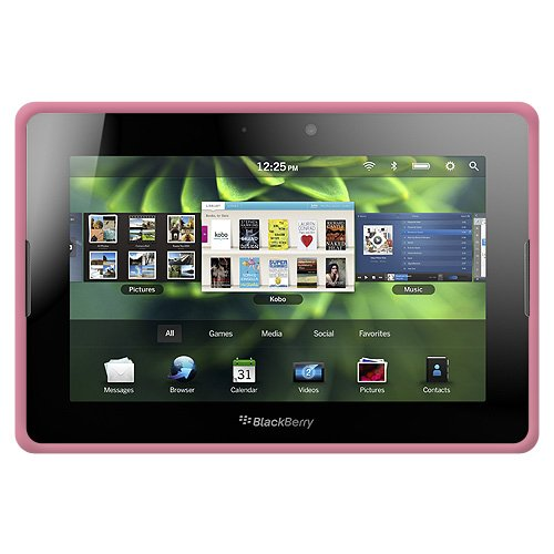 Amzer Silicone Skin Jelly Case for BlackBerry PlayBook - 1 Pack - Case - Baby Pink Blackberry Playbook Silicone Case