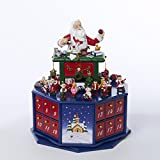 12'' Wooden Santa Workshop Wind-Up Musical Advent Calendar with Accessories