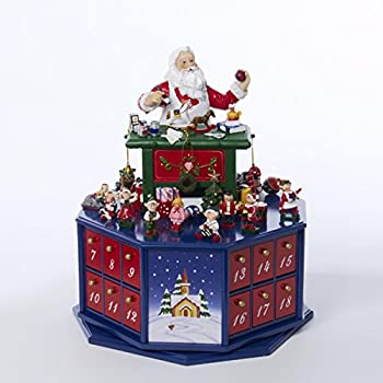 Mr christmas animated musical santa 39 s workshop advent calender house 23963 home for Decor star 005 ss