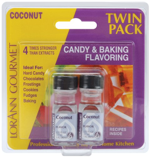 LorAnn Oils Candy & Baking Flavoring .125oz Bottle 2/Pkg-Coconut 0.125 Ounce Bottle