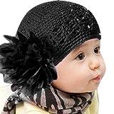 Doinshop Colorful Baby Kids Flower Headband Hair Bow Band Accessories Headwear (Black)