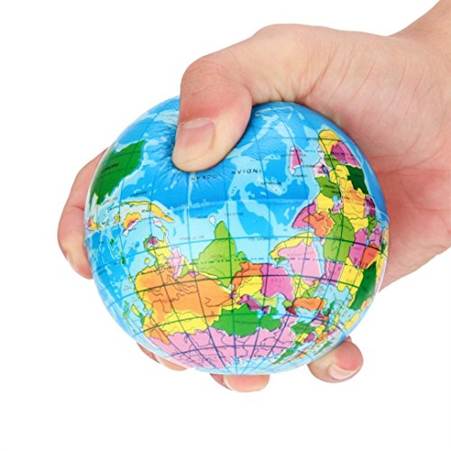 Mochi Squishy Toys , Mingcf 1 Cent Items World Map Foam Ball Squishies Toys | Squishes Toys | Squishys Slow Rising | Stress Relief Toy Hand Wrist Toys | Decoration - Map Cent