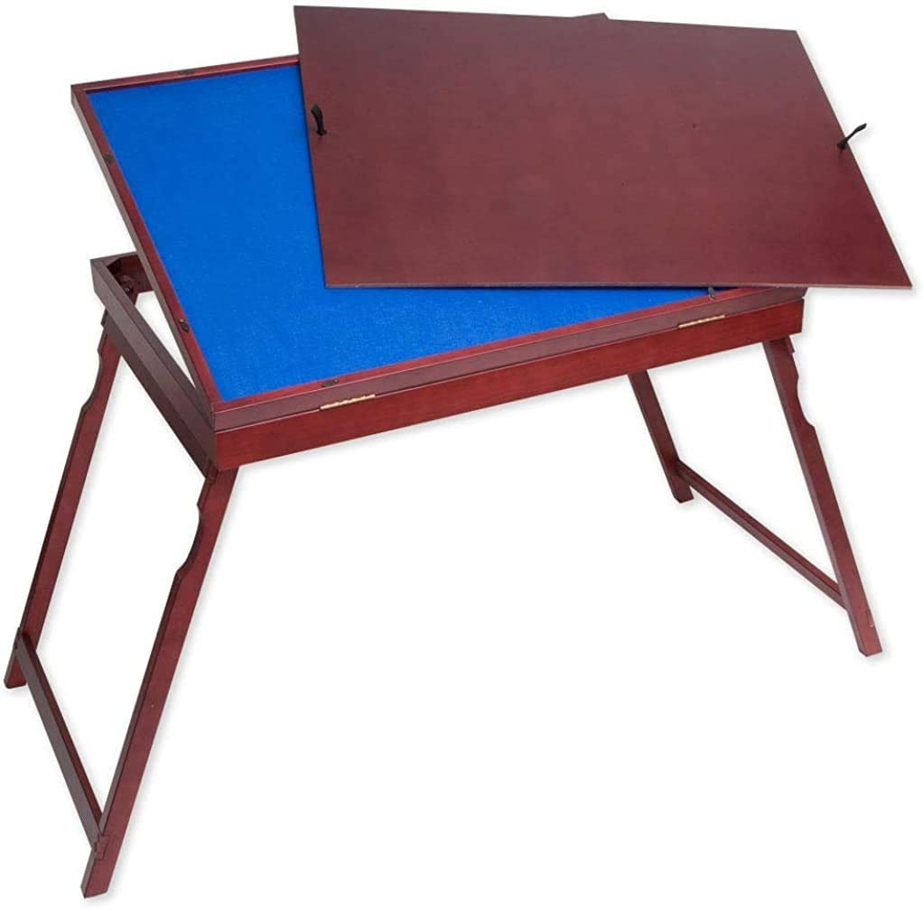 Bits and Pieces - Puzzle Expert Wooden Tilt-Up Table - Folding Jigsaw Puzzle Accessory Table - Folds for Easy Storage