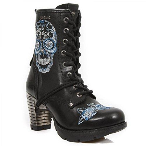 New Rock Støvler M.tr048-s2 Gotiske Hardrock Punk Dame Stiefelette Sort gSvTglXl