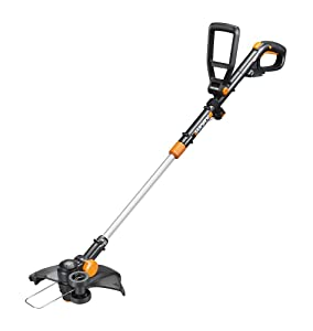 "WORX WG170 GT Revolution 20V 12"" Grass Trimmer/Edger/Mini-Mower 2 Batteries & Charger Included, Black and Orange"