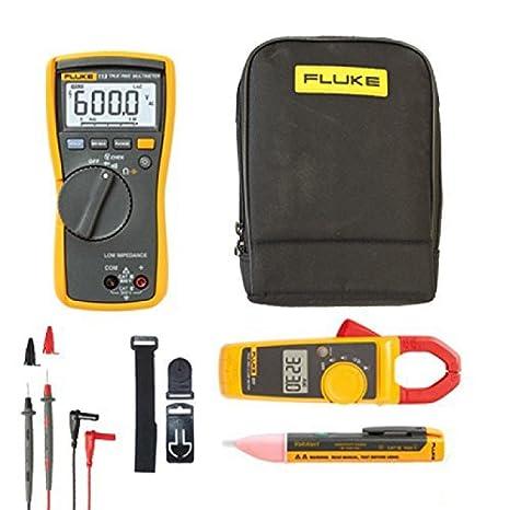 FLUKE 113 Combo Kit – KIT75 – incluye Fluke 113 True RMS multímetro LCD, medidor