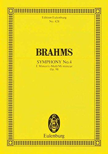 Sinfonie Nr. 4 e-Moll: op. 98. Orchester. Studienpartitur. (Eulenburg Studienpartituren)