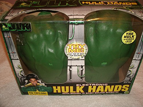 Sound Effects Electronic (Electronic Soft Foam HULK HANDS with Smash 'N Bash Sound Effects (2003 ToyBiz))