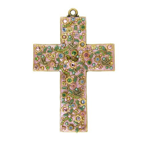 Michal Golan Pastel Flower Wall Cross