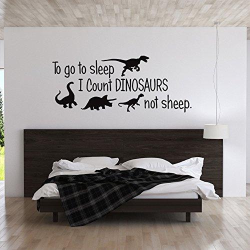 Sheep Wall Art Home Decor ~ To go sleep i count dinosaurs not sheep vinyl wall