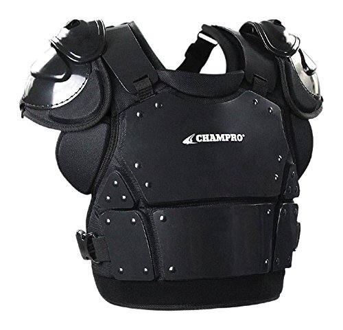 Champro Pro-Plus Plate Armor Chest Protector, Black, Medium/13 by CHAMPRO