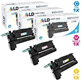 LD Remanufactured Lexmark C792 Set of 3 Extra High Yield Toner Cartridges: 1 Cyan, 1 Magenta and 1 Yellow for C792DE, C792DHE, C792DTE and C792E