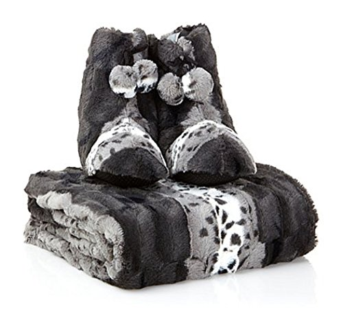 adrienne-landau-faux-fur-throw-and-booties-snow-leopard-large