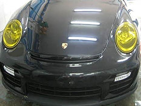 Noir Feu Arri/ère Lampe de Voiture Film Autocollant Brillant Changement de Couleur de Lumi/ère 120*30cm pour Phares Antibrouillards