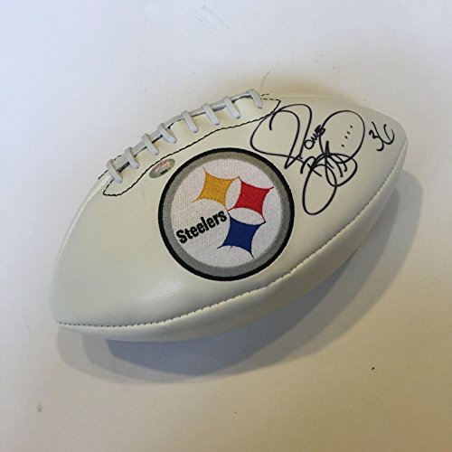(Jerome Bettis Signed Pittsburgh Steelers Super Bowl Football With JSA COA)