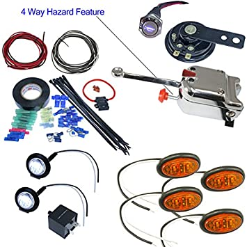 51K%2B77MBhDL._SY355_ amazon com utv heavy duty lever switch turn signal kit with horn utv turn signal wiring diagram at gsmx.co