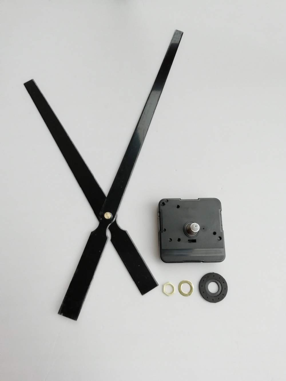 Maslin High Torque 10Sets 22MM Shaft Quartz Clock Movement Kit for Replacement with Large Metal Hands DIY