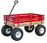 Speedway Express Wagon Model 800 Amish-made Red with Big Wide Knobby Tires