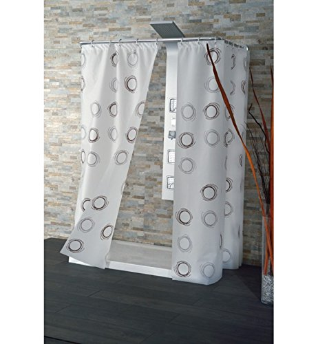 CPE Slow Eyelet Polyethylene Vinyl Acetate PEVA Brown White Shower Curtain