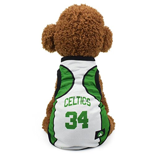KayMayn Pet Jersey Football Licensed Dog Jersey, Comes in 6 Sizes,Dog Clothes Football T-Shirt Dogs Costume National Soccer World Cup,Outdoor Sportswear Summer Breathable(S,Celtic)