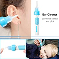 Ear Wax Cleaner Ear Wax Remover 2 Removable Silicone Tips for Infants Teenagers Adults Ear Cleaner Babies