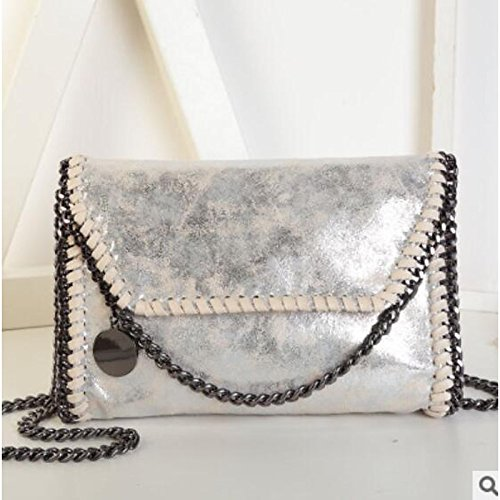 Bags Red Silver GMYAN Bag Gray Shoulder PU Zipper Women's Buttons Almond 5xppqv0Fan