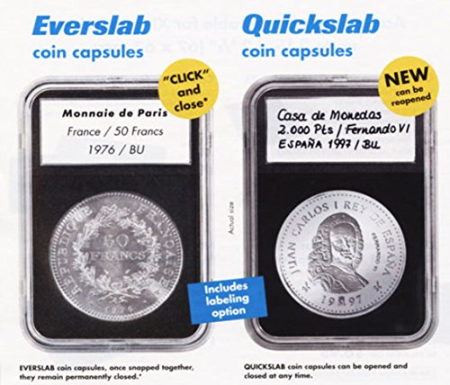 Pack of 5 Lighthouse Quickslab 26mm Graded Coin Slabs US Presidential/Small Dollar Holder