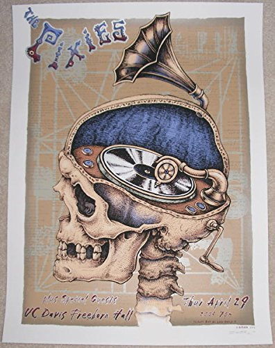 2004 The Pixies - Uc Davis Silver Edition Concert Poster by Emek