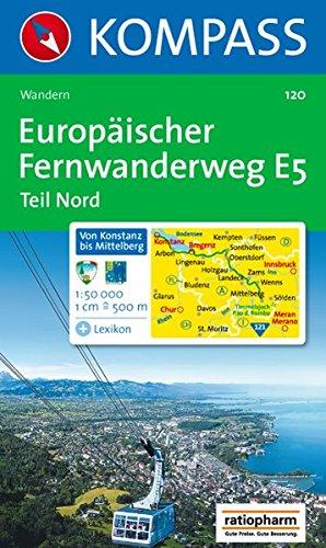 Europäischer Fernwanderweg E 5, Teil Nord: Wandern. 1:50.000