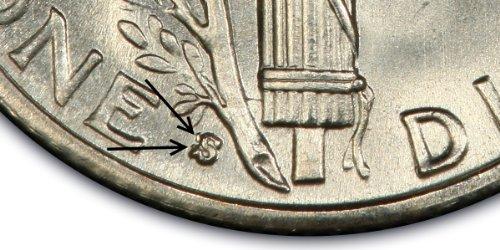 1940-S/S/S/S Mercury Dime ~~ Rare Quadruple Repunched Mintmark ~~ Grades XF/40